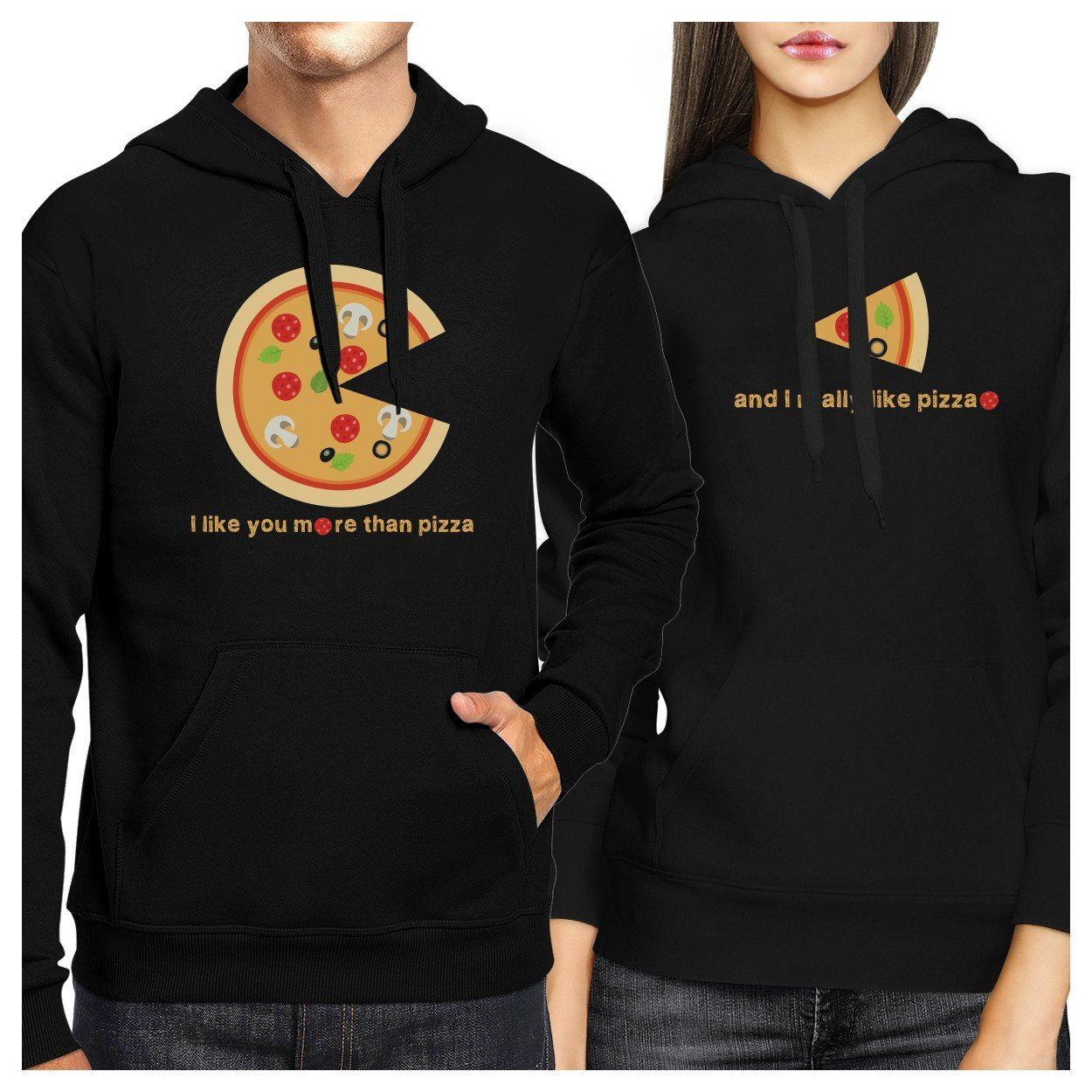 e86cfe3a78 I Like You More Than Pizza Couple Hoodies Valentines Day Gift Idea ...