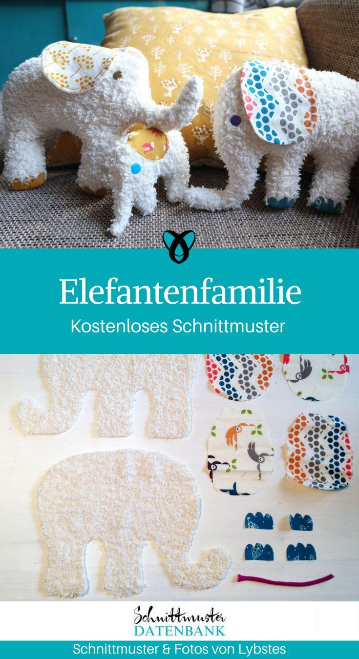 Elefantenfamilie Kuscheltiere #stuffedtoyspatterns