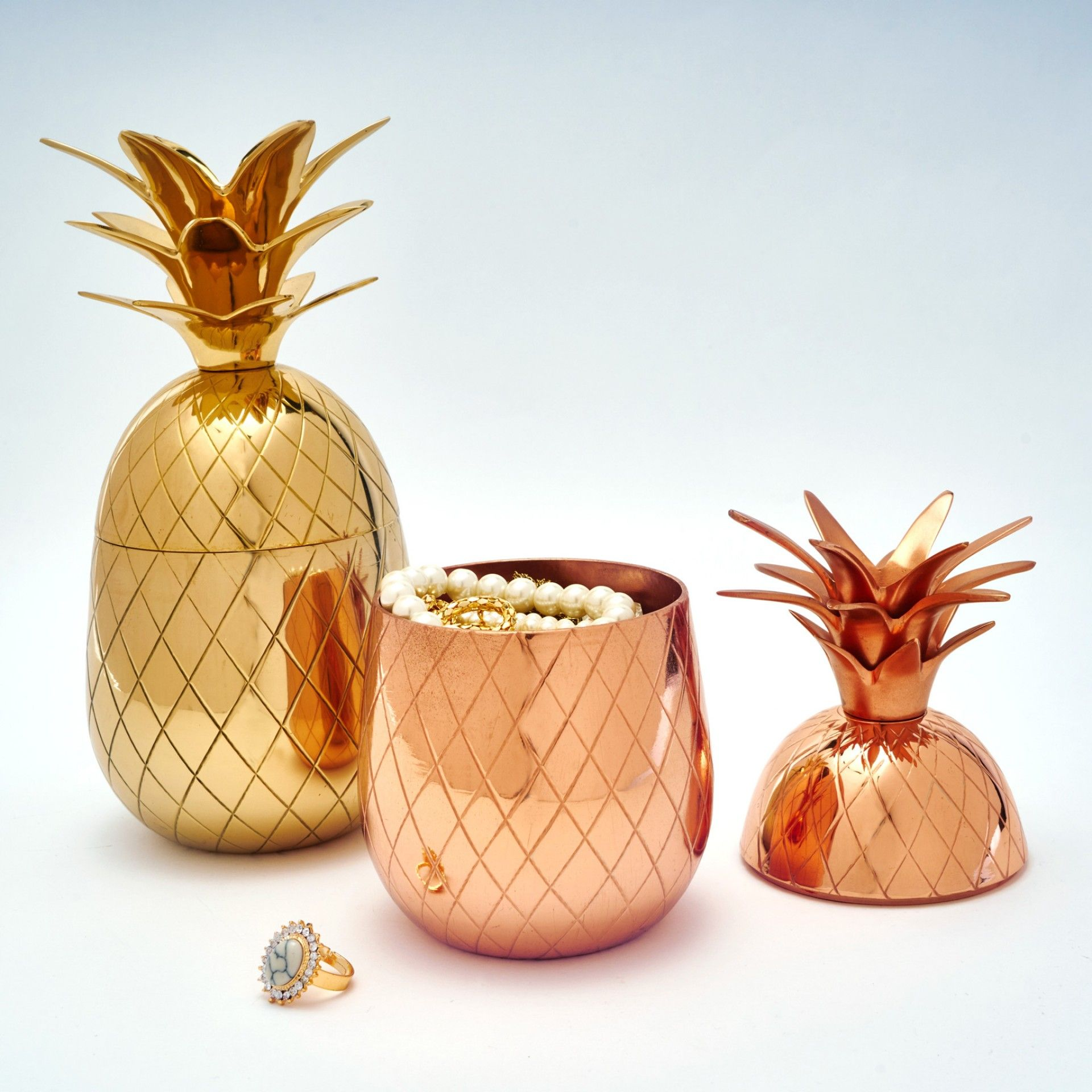 Big Gold Pineapple Box – Buy Online India   Home decor online ...