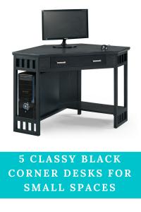 Black Corner Desk For Small Space Black Corner Desk Computer