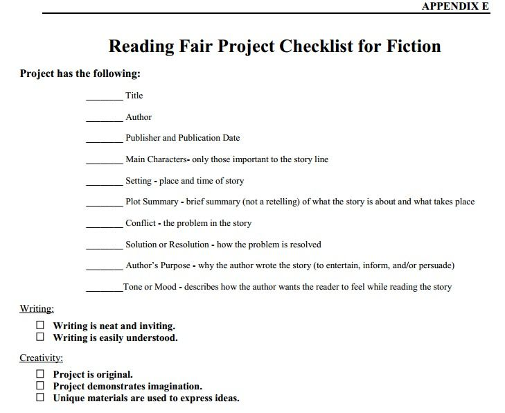 Reading Fair Guidelines  Better Than Book Reports