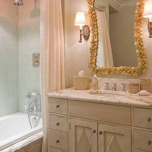 James Michael Howard Bathrooms Pink And Gray Bathroom Shower Curtain