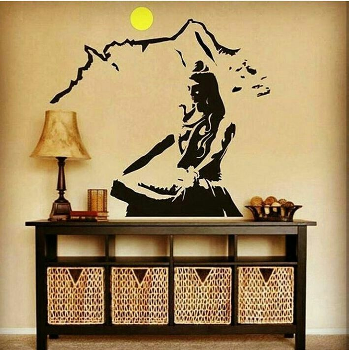 pin by akhil k kapu on mahadev wall stickers living room on wall stickers for living room id=91985
