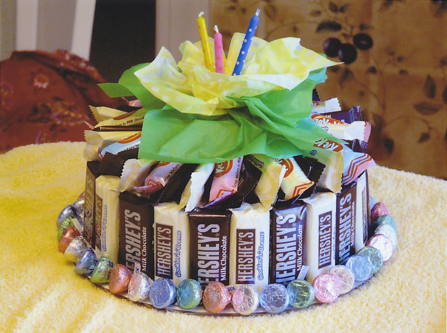 Hershey Bar Cake Made With Assorted Chocolates Birthday Gift I For One Of My Daughters Friends