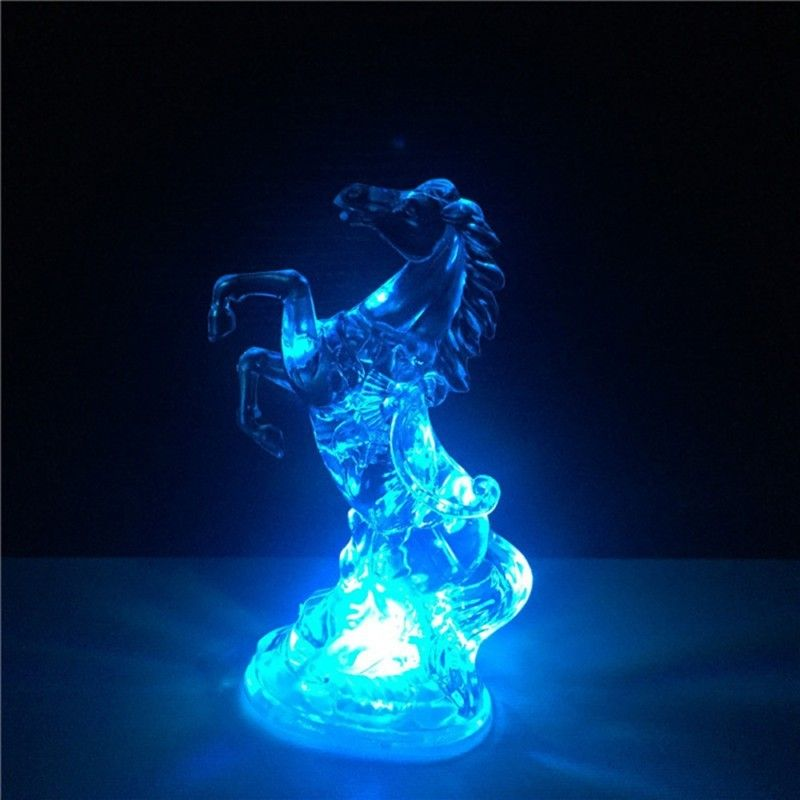 Horse Night Light Colorful 7 Changing Color LED Light Christmas