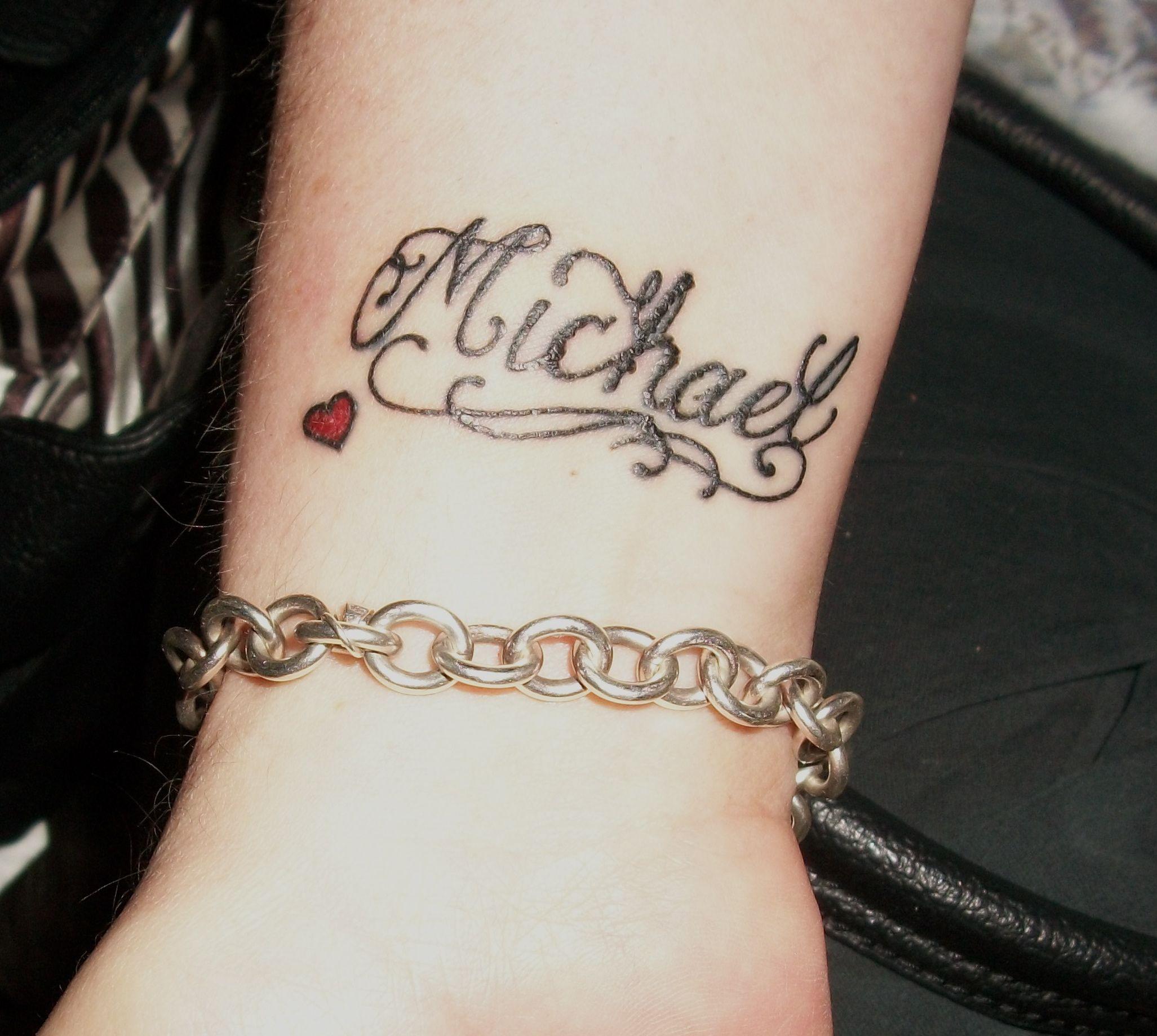 Other Sons Name Michael Couple Name Tattoos Sarah Tattoo Name Tattoos