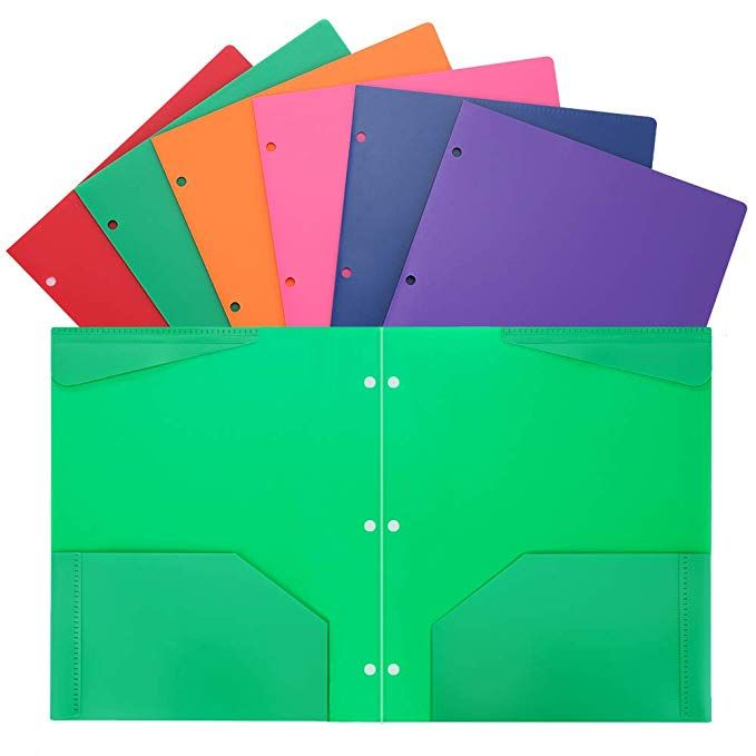 Folders Heavy Duty 2 Pocket Plastic Folders With 3 Hole