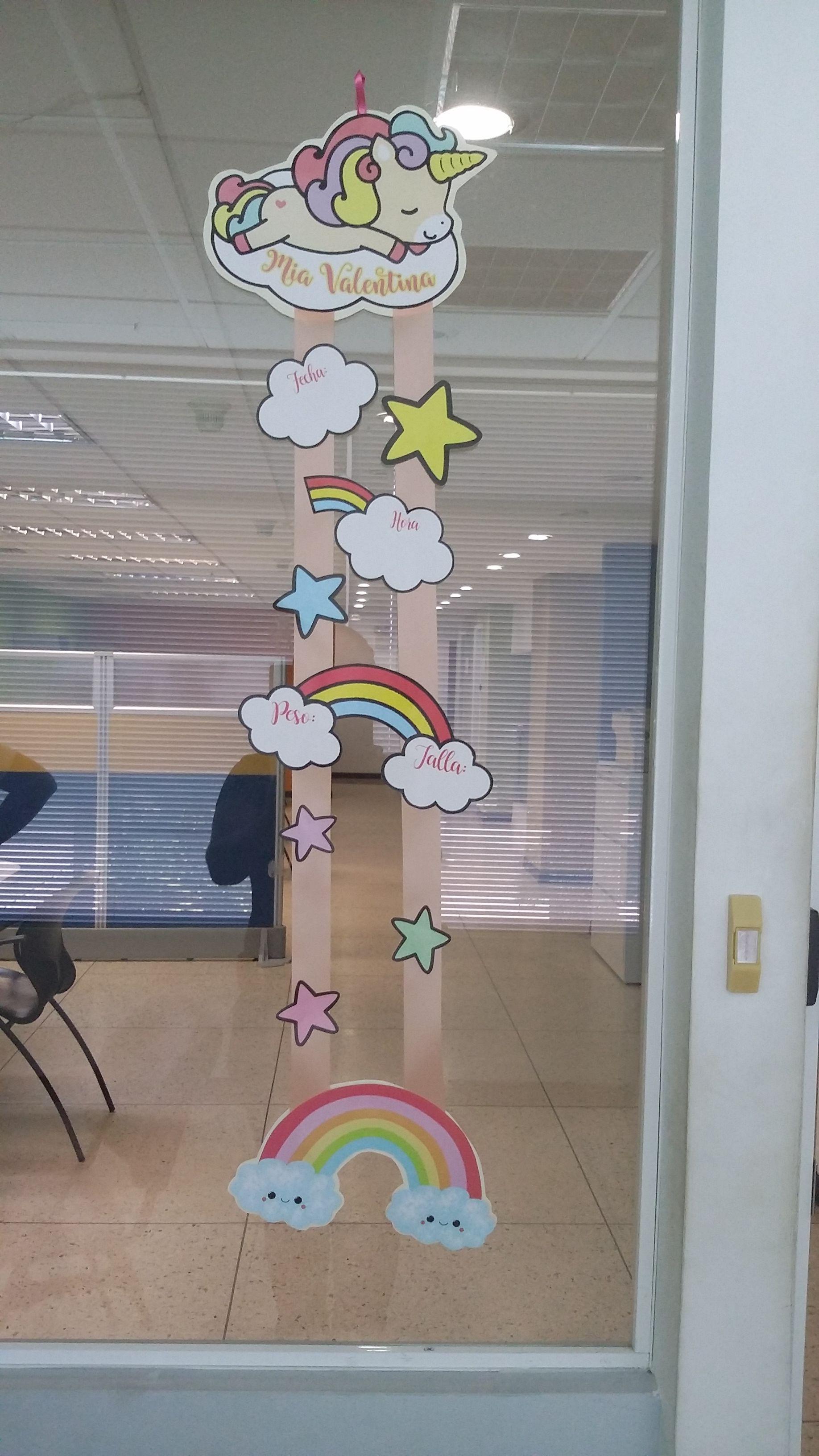 Pin von Oleydis Reyes auf Baby Girl Hospital Door Hanger Unicorn ...