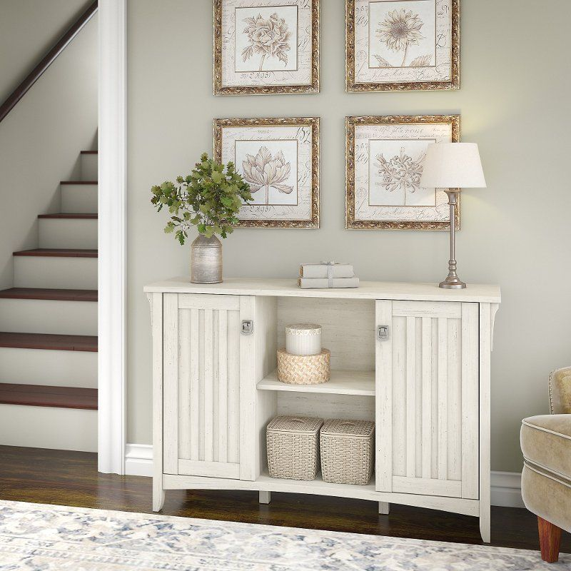 Antique White Storage Sideboard With Doors Salinas White Storage Cabinets Home Office Furniture Home Interior Design