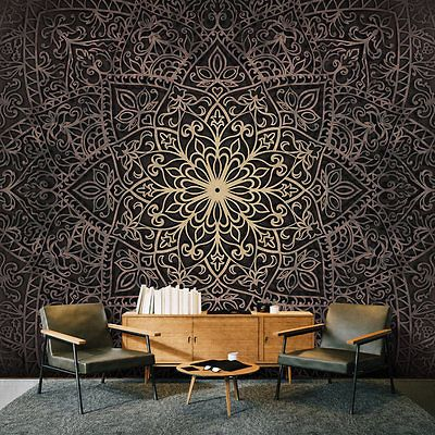 vlies fototapete 3 farben zur auswahl tapeten mandala. Black Bedroom Furniture Sets. Home Design Ideas