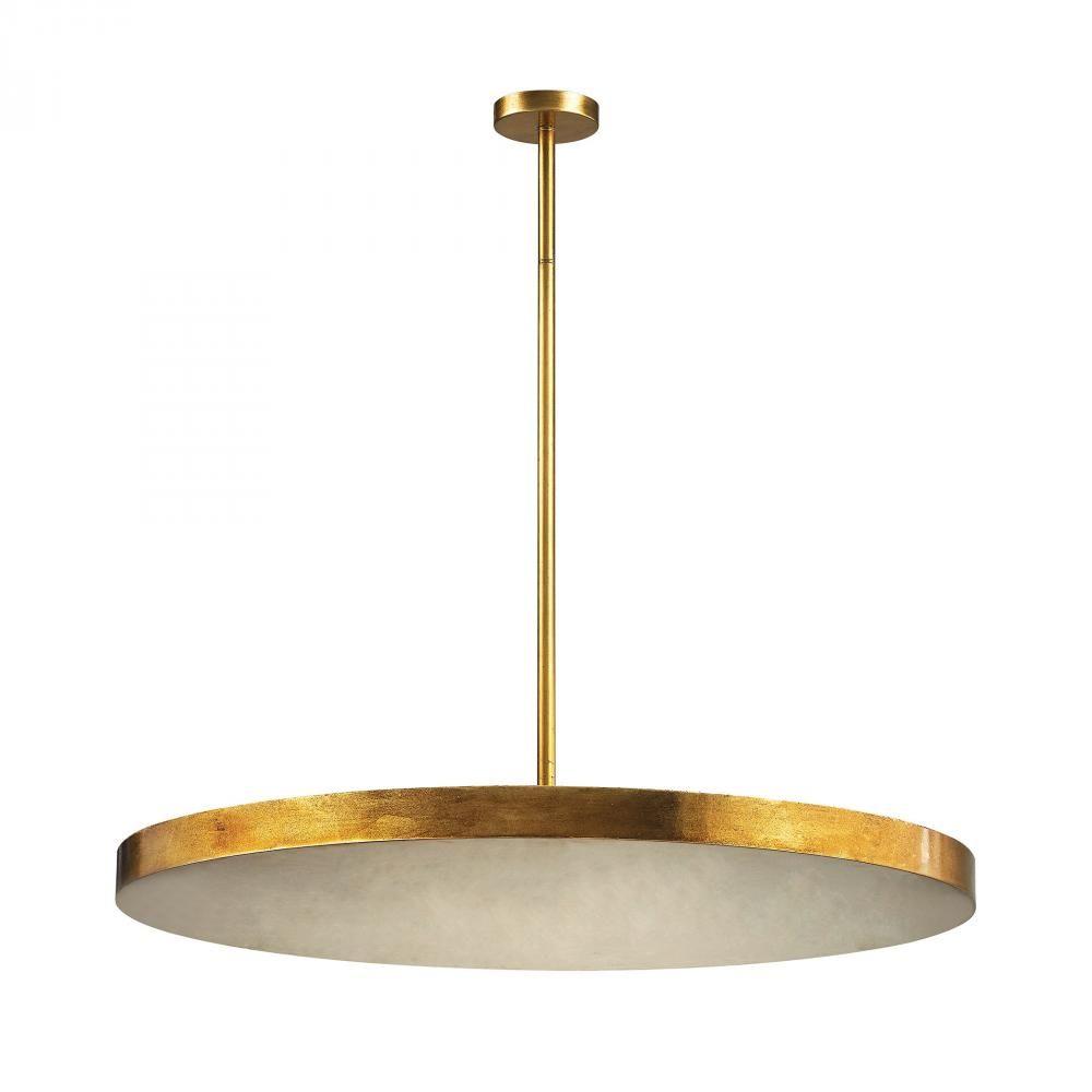 Laigne 4 Light Disc Pendant In Gold Leaf : 76X99 | Bright Light Design Center