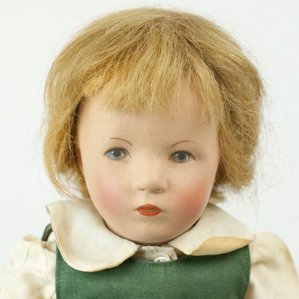 "RARE 1952 Kathe Kruse ""Slender Grandchild"" Doll 17"" from funcity on Ruby Lane"