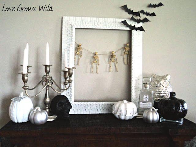23 Festive Halloween Mantels Mantlescapes Pinterest Holidays