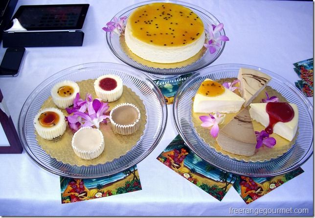 Hawaiian Cheesecake, hands down, the best in Hawaii!! Start with a mac-nut shortbread base, followed by a layer of Waialua Estate dark chocolate, out-of-this world cheesecake and a local topping. My favorite flavor is the one at the top, lilikoi. Yummm!