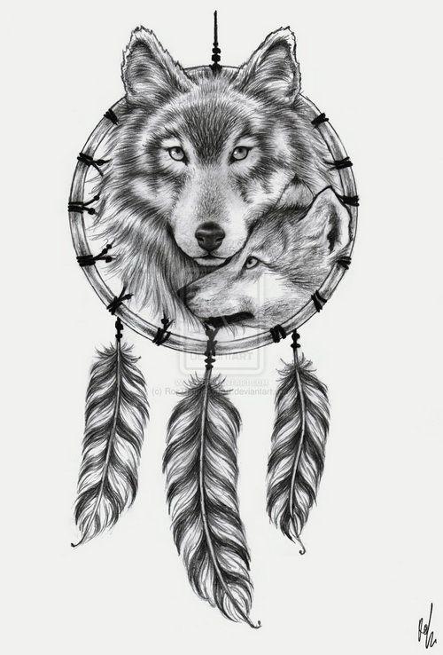 Dreamcatcher Tattoos On Thigh Dream Catcher Tattoo Design Wolf Dreamcatcher Tattoo Wolf Tattoo Design