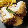 Involtinis de veau au jambon cru et au fromage