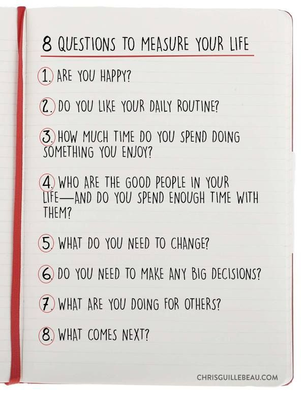 8 Questions To Measure Your Life How