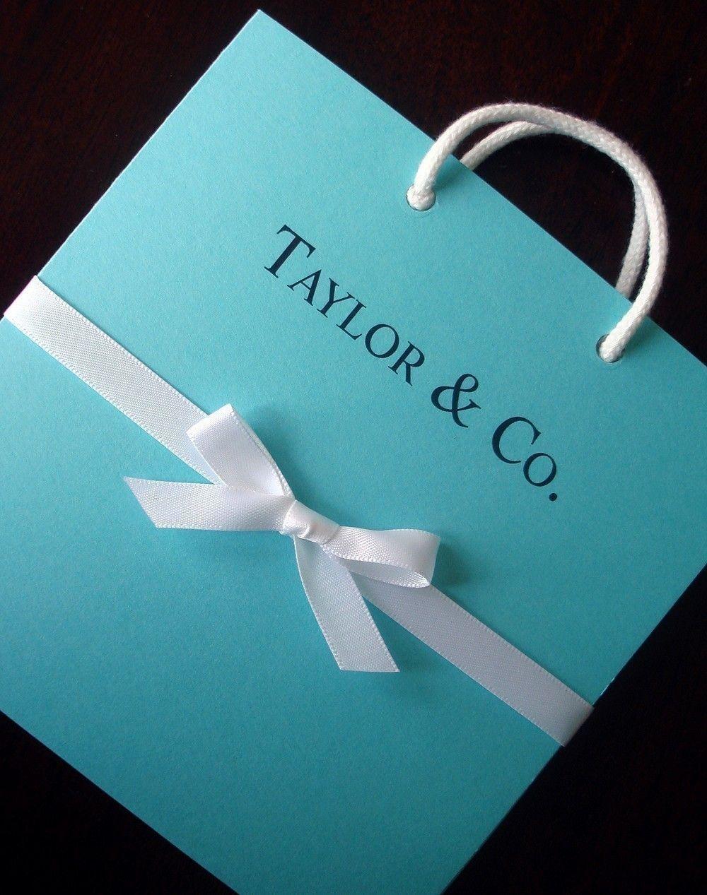 0a53bee7fe Tiffany Blue Bag Wedding and Shower Invitation - Baby, bridal, sweet  sixteen bat mitzvah. $4.50, via Etsy.