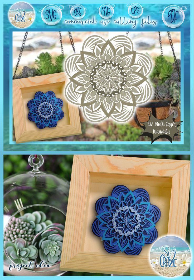 Download 3D Mandala Multi Layered Floral Mandala Paper Crafting SVG ...