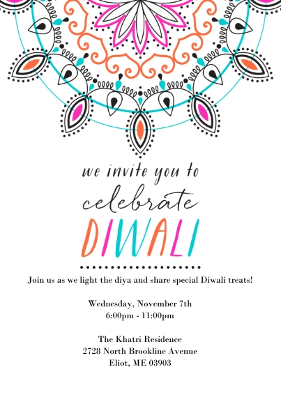 5x7 Cards Standard Cardstock 85lb Card Stationery Diwali Cards Paper Cards 5x7 Cards