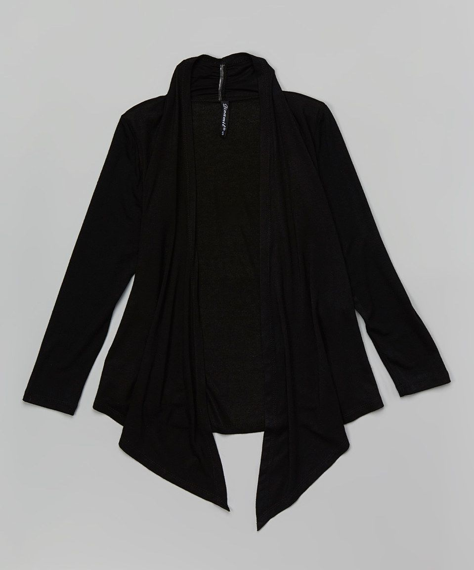 Another great find on #zulily! Black Open Cardigan - Girls by Dinamit Jeans #zulilyfinds