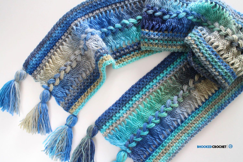 Waves Hairpin Lace Scarf | Pinterest | Häkeln
