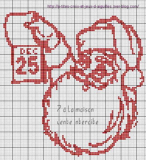 Grille gratuite embroidery pinterest grille le blog et gratuit - Grilles gratuites point de croix ...