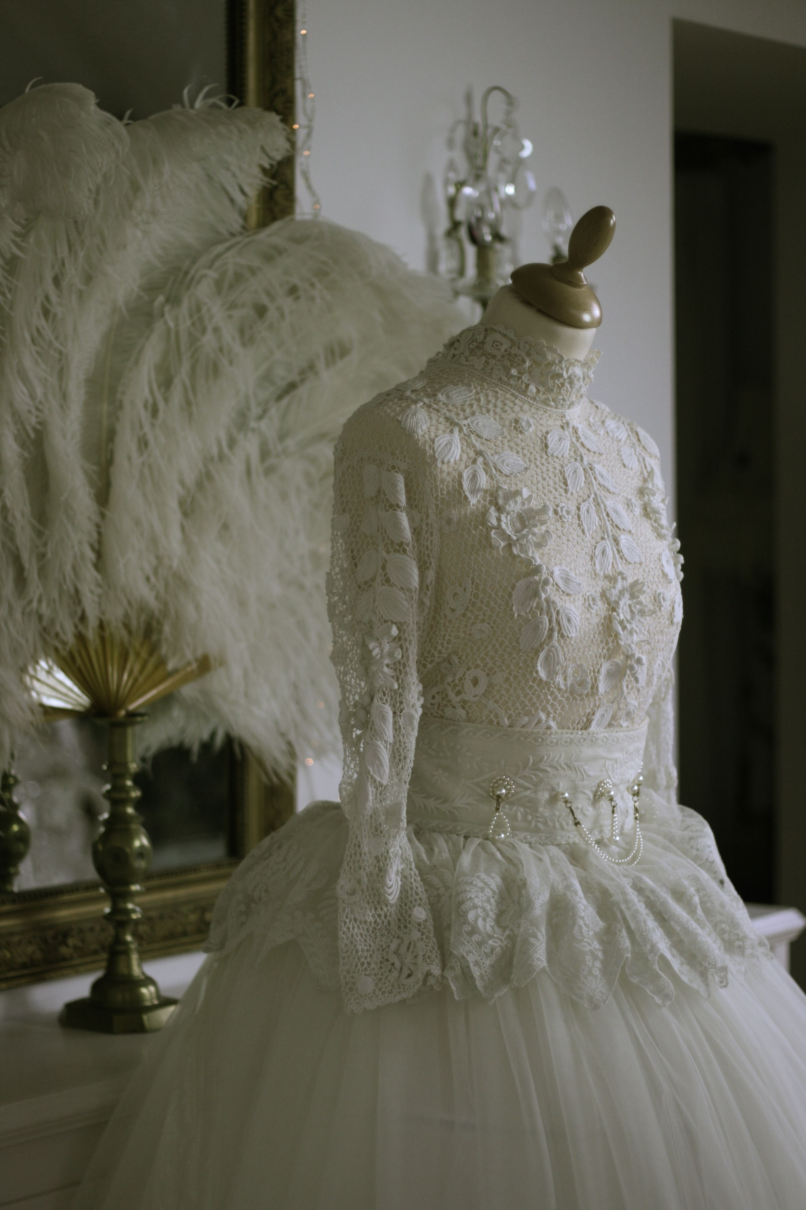 Antique Lace Wedding Bodice From