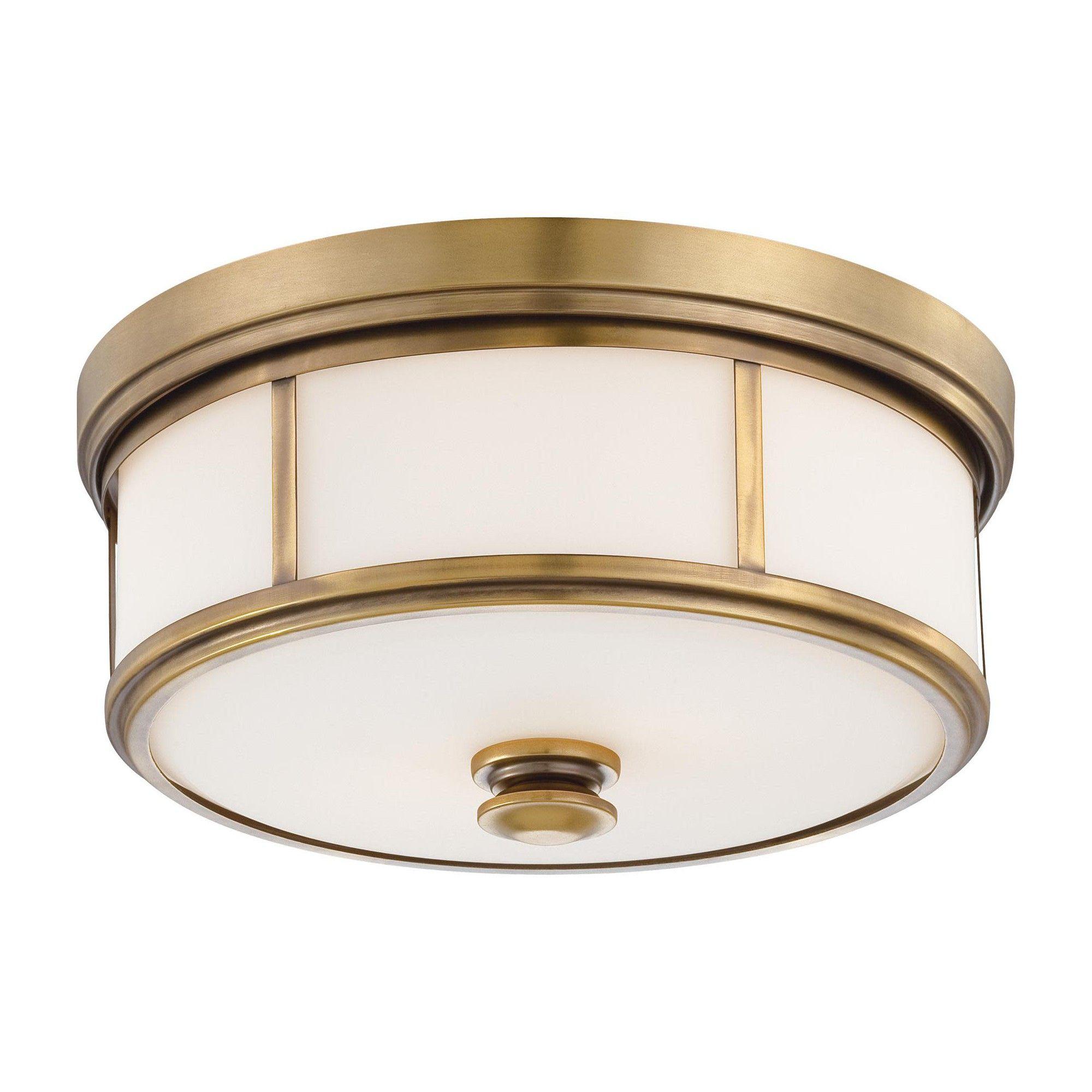 Minka Lavery 4365 2 Light 13 5 Wide Flush Mount Ceiling Fixture