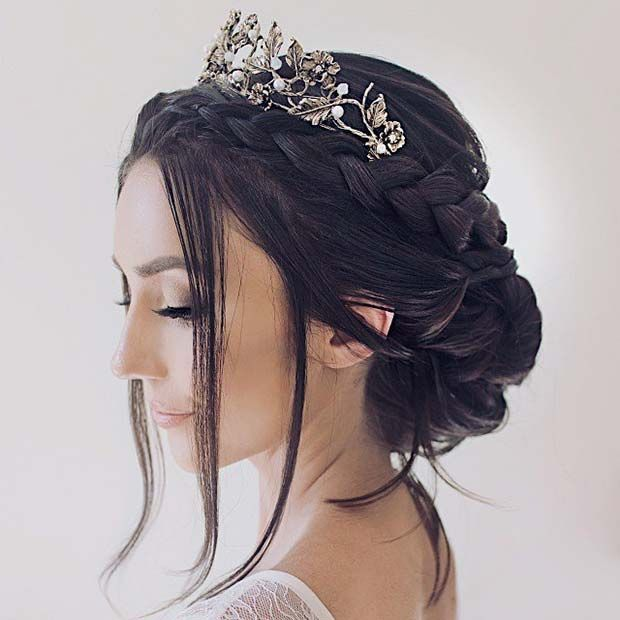 23 Stunning Wedding Updos For Brides And Guests Stayglam Hair Styles Quince Hairstyles Braided Hairstyles For Wedding