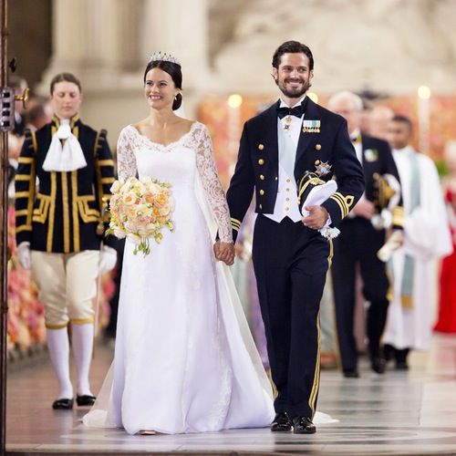 Prince Carl Philip and Princess Sofia on the day of their wedding.