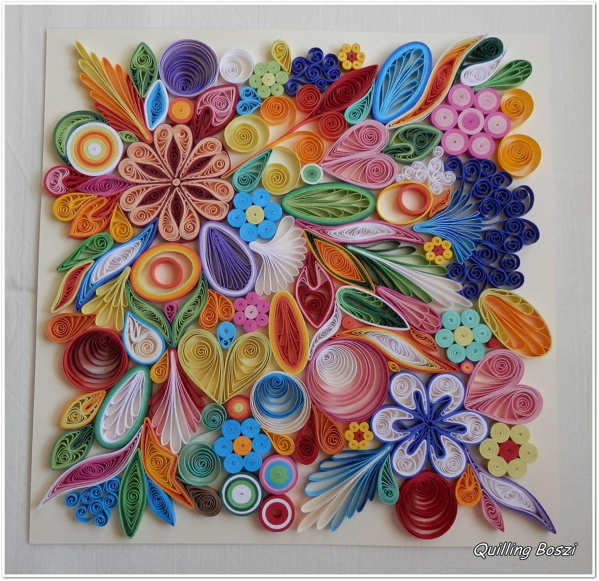 Картинки с цветами из квиллинга