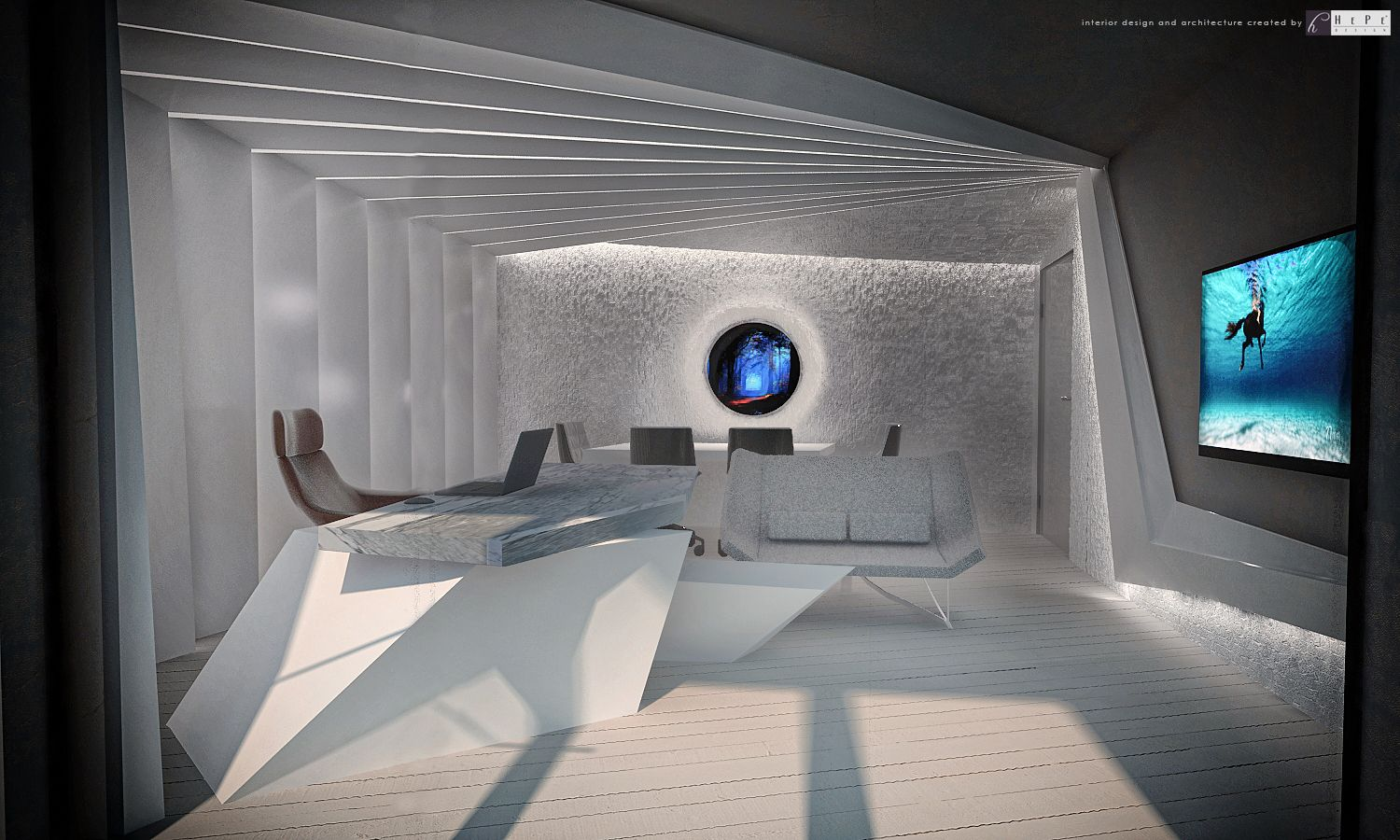USC Financial Consultancy Manager Office Interior Design And Architecture Created By HePeDesign