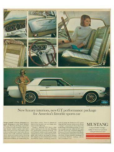 '1965 Mustang-Luxury Interiors' Art Print -   Art.com
