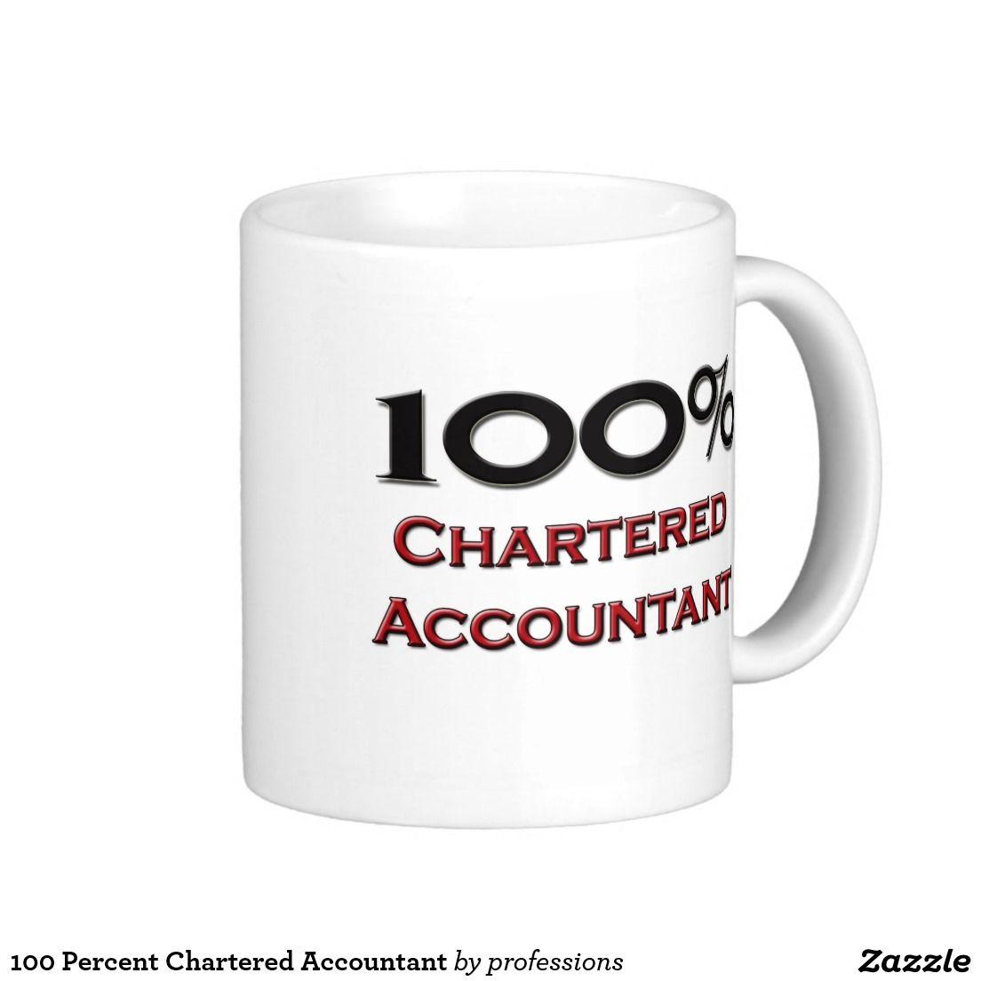 100 percent chartered accountant coffee mug