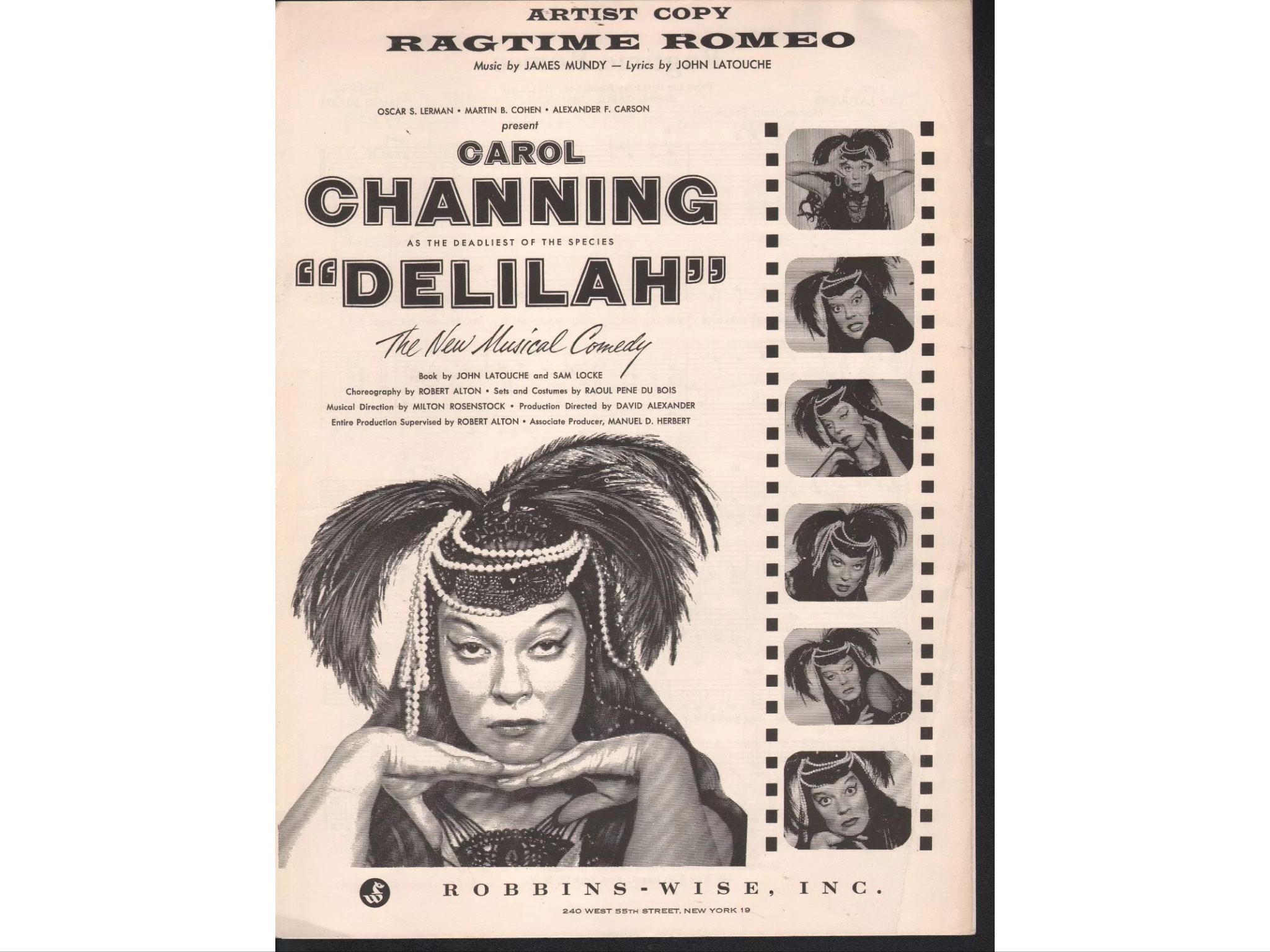 carol channing as queen of the silent screen in
