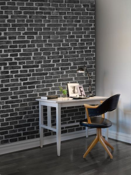 Brick Wall Black In 2019 Black Brick Wall Black Brick