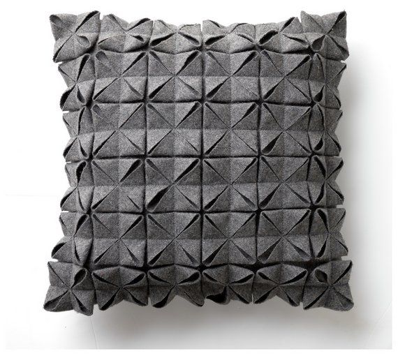 Buy Heart Of House Origami Cushion Grey At Argos Co Uk Your Online Shop For Cushions Home Furnishings Home And Garden Grey Cushions Argos Home Cushions