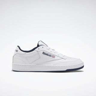 Reebok Unisex Club C 85 Shoes in White/Navy Size M 3.5 / W 5 – Court,Lifestyle Shoes