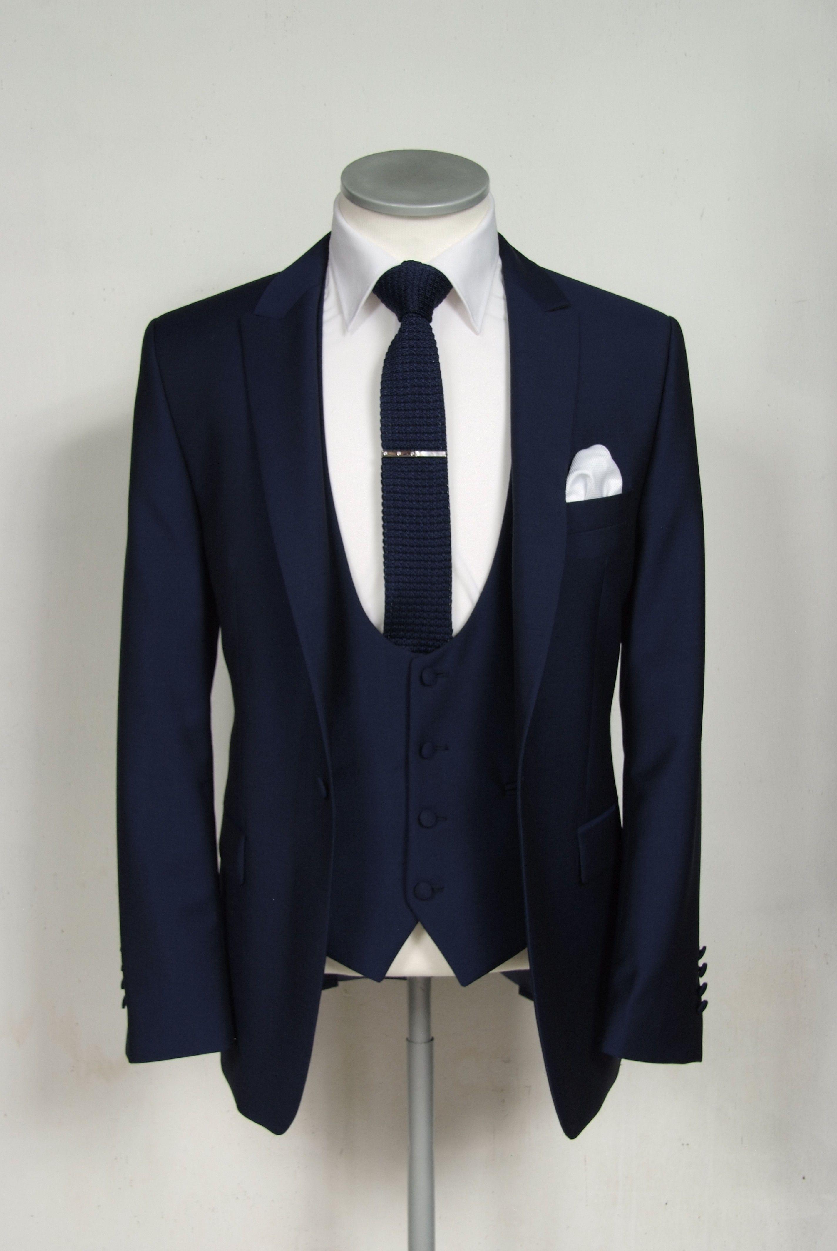 Slim Fit Royal Blue Wedding Lounge Suit Hire