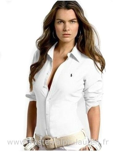 1d2661b5a0a boutique Ralph Lauren femmes chemises petit mode pony white Chemise Ralph  Lauren Femme