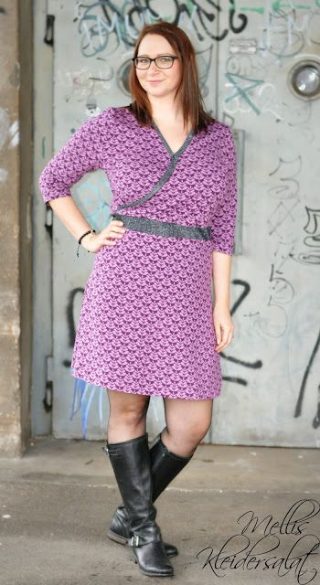 Mellis Kleidersalat: Charlotta purple / Lillestoff   Kjoler