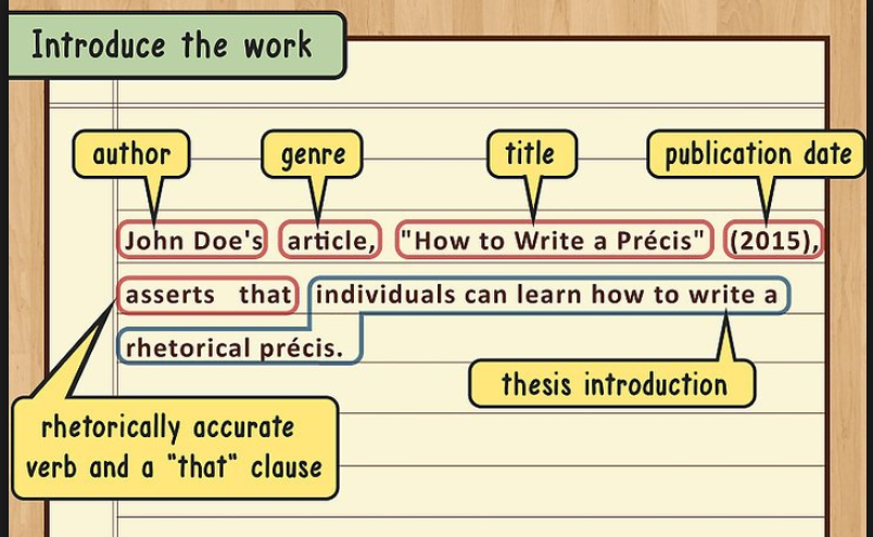 What is a Precis?, Format, Outline, and Examples: Critical precis ...