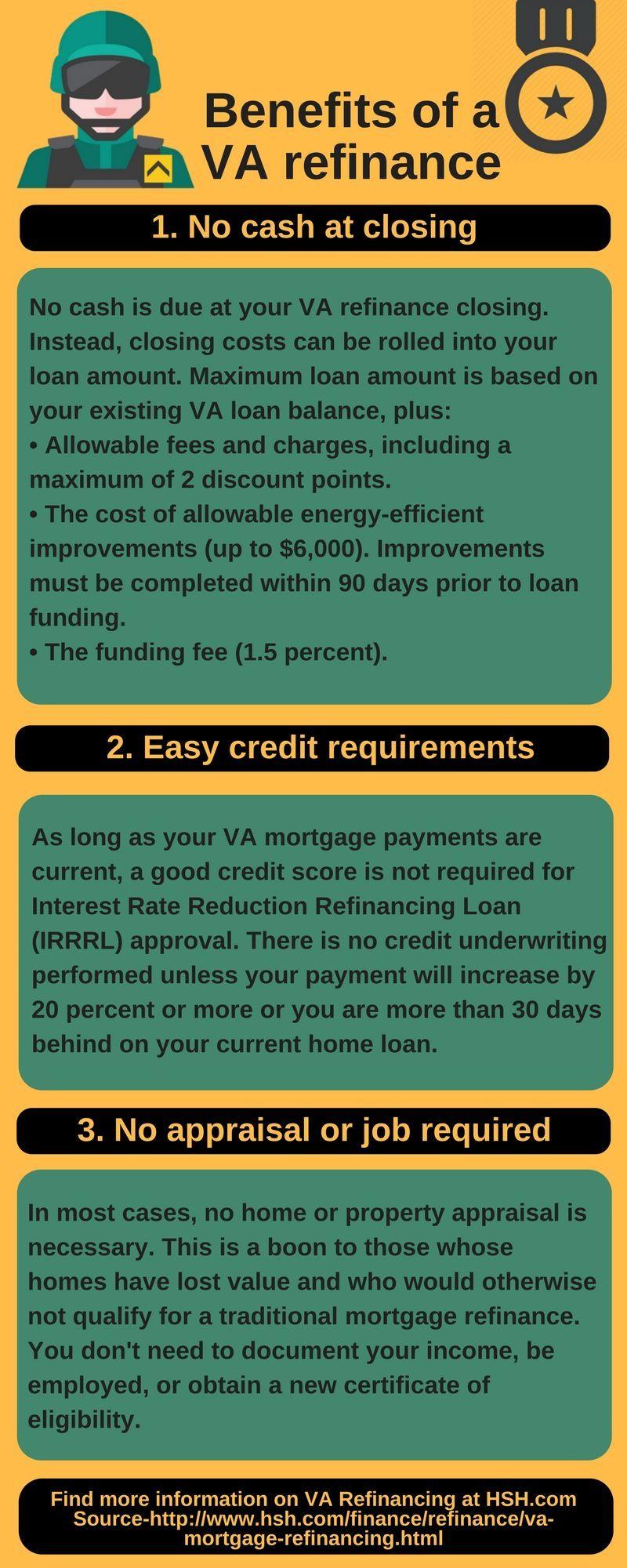 Benefits of a VA refinance.