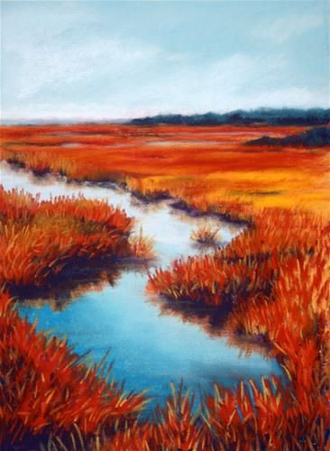 """Great Sippewissett Marsh"" - Original Fine Art for Sale - © Jill Bates"