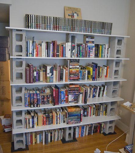 New Bookshelf Cheap Bookshelves Bookshelves Diy Cinder Block