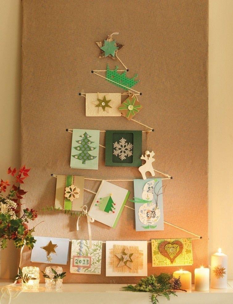 descubre ideas para realizar rboles de navidad poco que pueden colocarse sobre la pared o