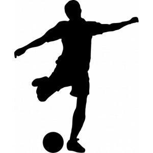 Fussball Silhouette Schwarz Weiss Und Kinderzimmer