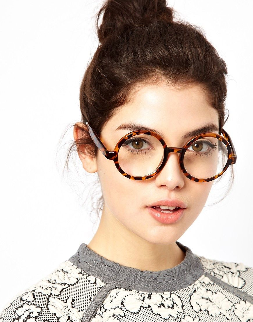 c9d2a668e9b Oversized Thick Tortoise Clear Circle Glasses Vintage Round Sunglasses -  Dandy. I really really want a pair of circular glasses frames