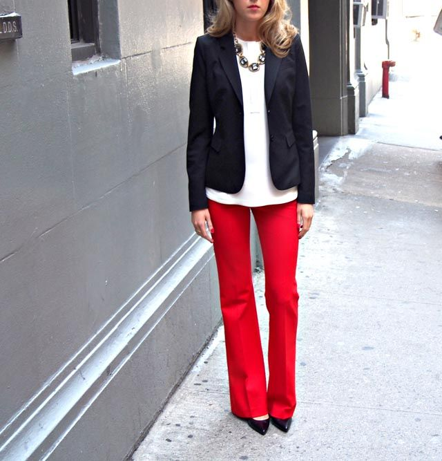 red dress pants women - Pi Pants